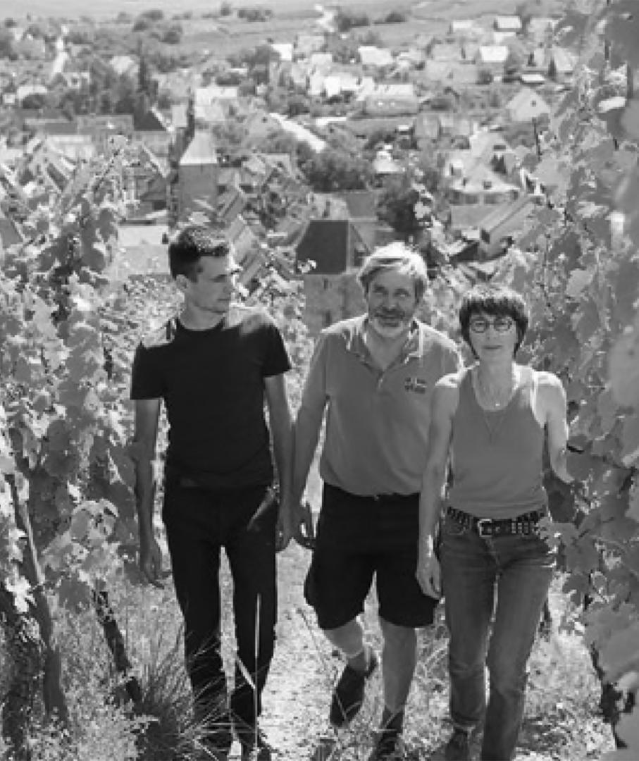 Pierre, Jean-Louis et Andrée Trapet