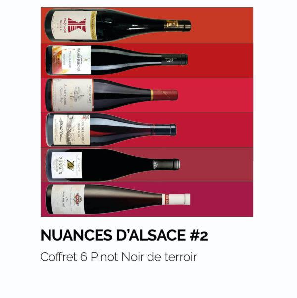 Coffret 6 Pinot Noir de terroir, AOC Alsace