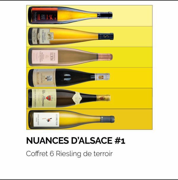 Coffret 6 Riesling de terroir AOC Alsace